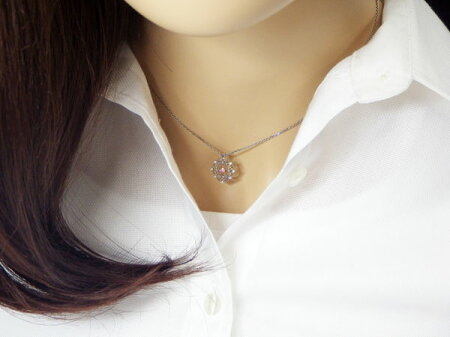 【NEW】天然ピンクダイヤモンドスイングデザインプラチナペンダントP-66・67