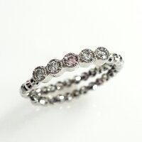 ピンクダイヤモンドサイズフリープラチナリング(R-209)アーガイルピンクダイヤ・プラチナ・レディースジュエリー