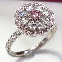 ピンクダイヤモンドロイヤルリングR-134