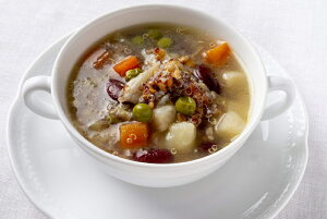 Les enfants gates(レザンファン ギャテ) フランス産古代麦とキヌア入り菜園風スープ