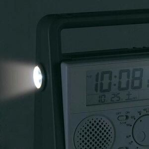 セイコー防災クロック電波目覚まし時計SQ692W