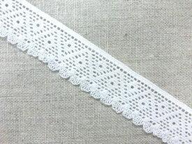在庫処分 真っ白ストレッチレース  手芸 縁取り 装飾 日本製 8799-S 真っ白