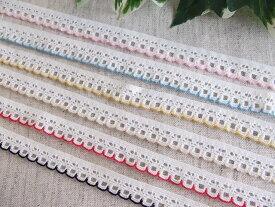 カラーストレッチレース 5m巻き マスクゴム代用 かわいいゴム 縁取り 装飾 日本製