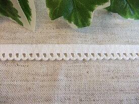 在庫処分 ストレッチトーションレース 10mm巾  オフホワイト 1m (9477-S)