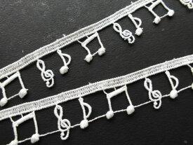ドール・コーディネイトに如何!?流行の綿ケミカルの可愛い音符柄のアクセサリーレース 60cAC-00154送料最安値は定形郵便84円