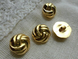 15mmお買い得なゴールドカラーのボタン 4個入りGRB-00399送料最安値は定形郵便82円