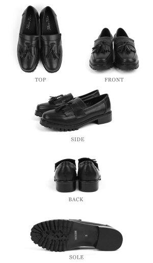 パンプスローファースリッポンスクエアトゥレディース低ヒール春3cm大きい靴tm-91[□](ブラック黒ブロンズガンメタシルバー)痛くない歩きやすい大きいサイズ3L(25.0cm)【P】卒業式入学式コスプレ