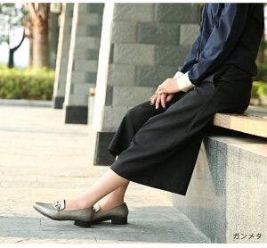 ビットローファーレディース白おしゃれワイズ3E靴ローファーレディース歩きやすいローヒールおじ靴黒マニッシュパンプスガンメタブラックホワイト小さいサイズ3cmヒール痛くない卒業式tm-166[□]【P】
