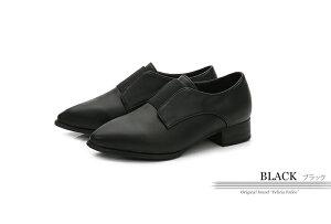 マニッシュシューズスリッポンローヒール3cm黒ブラック大きいサイズ3Lレディース靴tm-275新作ブーツブーティとんがりトゥゴムおじ靴ひもなしコスプレ[□]【P】