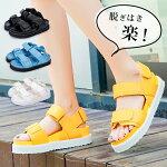 厚底サンダルレディースサンダル大きいサイズ3Lレディース靴夏靴ホワイト白イエロー黄色ブラック黒コスプレtm-180【P】