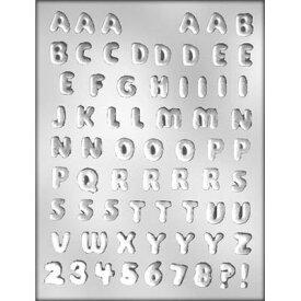 【メール便OK】● チョコレート 型 モールド ●アルファベット 英字&数字 ?!