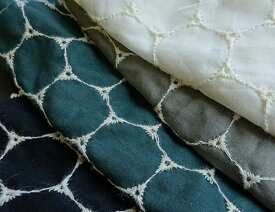 コットン100%国産刺繍生地 (4色)【1個96cmx50cm】3個までネコポス可能