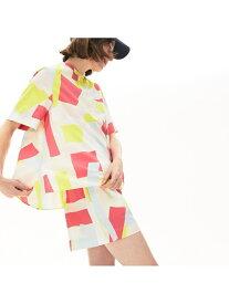 【SALE/50%OFF】モザイクカラーデザインハーフボタンブラウスシャツ LACOSTE ラコステ シャツ/ブラウス 長袖シャツ【RBA_E】【送料無料】[Rakuten Fashion]
