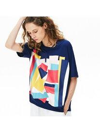 【SALE/50%OFF】ボクシーフィットモダングラフィックデザインTシャツ LACOSTE ラコステ カットソー Tシャツ ホワイト【RBA_E】【送料無料】[Rakuten Fashion]