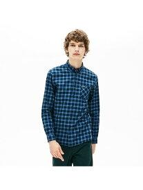 [Rakuten Fashion]コットンサージボタンダウンチェックシャツ LACOSTE ラコステ シャツ/ブラウス 長袖シャツ【送料無料】
