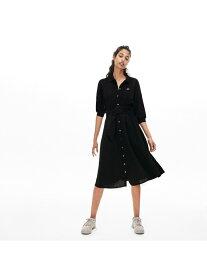 [Rakuten Fashion]【SALE/50%OFF】ウェストベルト付きポロドレス LACOSTE ラコステ ワンピース シャツワンピース ブラック ネイビー【RBA_E】【送料無料】