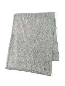 [Rakuten BRAND AVENUE](W)鹿の子編みボーダーニットストール LACOSTE ラコステ ファッショングッズ【送料無料】