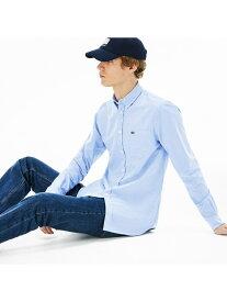 [Rakuten Fashion]ボタンダウンオックスフォードシャツ LACOSTE ラコステ シャツ/ブラウス 長袖シャツ ホワイト ネイビー【送料無料】