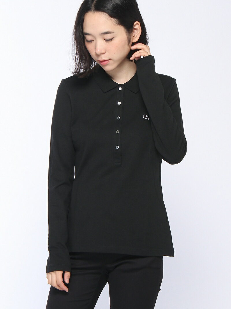 LACOSTE (W)ストレッチ ポロシャツ (長袖) ラコステ【送料無料】
