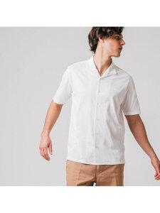 COOLMAX(R) カッターシャツ LACOSTE ラコステ シャツ/ブラウス 長袖シャツ ホワイト ブラック ベージュ【送料無料】[Rakuten Fashion]