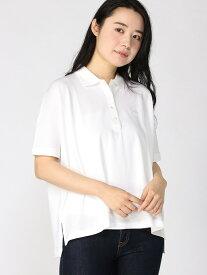 [Rakuten Fashion]【SALE/30%OFF】ボックスシルエットポロ LACOSTE ラコステ カットソー ポロシャツ ホワイト ブラック ネイビー【RBA_E】【送料無料】