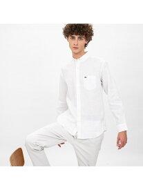 [Rakuten Fashion]【SALE/30%OFF】リネンボタンダウンシャツ LACOSTE ラコステ シャツ/ブラウス 長袖シャツ ホワイト ネイビー【RBA_E】【送料無料】