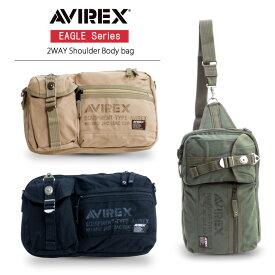 バイク用品 2WAYショルダーバッグ ボディバッグ EAGLE イーグル AVX3522 2WAY 撥水 人気 軽い ミリタリー AVIREX(アビレックス) AVX3522 取寄品