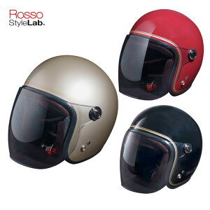 セールバイク用ヘルメット レディース人気 おすすめ 全排気量対応 おしゃれ 黒 赤 シルバー ROSSO StyleLab(ロッソスタイルラボ)ROSSOジェットヘルメットCLASSIC ROH-506 取寄品
