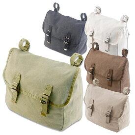 バイクバッグ サイドバッグショルダーバッグ 2WAY ビンテージ おすすめ 黒 茶 カーキ 白 DIN MARKET(ディンマーケット)キャンバスサドルバッグ Canvas Saddle Bag 取寄品