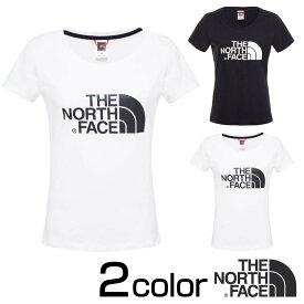 ノースフェイス Tシャツ THE NORTH FACE 半袖 イージー Tシャツ レディース Tシャツ S/M/L ロゴT レディース ブラック ホワイト nf00c256