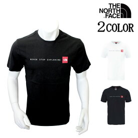 ノースフェイス Tシャツ THE NORTH FACE ネバーストップエクスプローリング Tシャツ NF0A2TX4LB11.M White/Blue/Black XS/S/M/L/XL ロゴT メンズ レディース