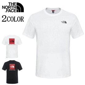 ノースフェイス Tシャツ レッドボックス THE NORTH FACE S/S Red Box ホワイト/ブラック S/M/L/XL nf0a2tx2 バレンタイン プレゼント 彼氏