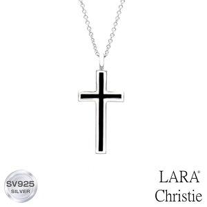 ネックレス メンズ LARA Christie (ララクリスティー)レールクロス ネックレス[ BLACK Label ] シルバー ネックレス メンズ 父の日ギフト 父の日プレゼント