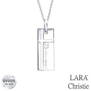 ネックレス レディース ノーブル クロス ララクリスティー LARA Christie WHITE Label p3051-w