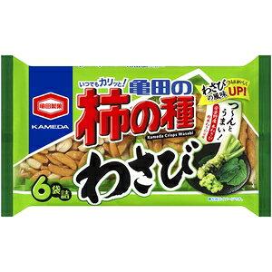 《早いもの勝ち!!》亀田製菓柿の種わさび(6袋) 182g 12入り