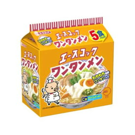 エース (袋)ワンタンメン 5食パック×6