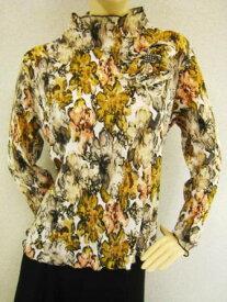コーラス衣装 コーラス ブラウス 衣装 MからLサイズ対応 モチーフ付き ベージュ柄Lサイズ