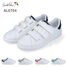 [送料無料]アーノルドパーマー スニーカー レディース ローカット ベルクロ Arnold Palmer AL0704 レッド ネイビー グレー グリーン マジックテープ 3本 シンプル コートタイプ 白 ホワイト 軽量 ウォーキング シューズ 靴 (2003)