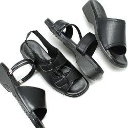 オフィスサンダル57405745574719710LUCIANOVALENTINO(ルチアノバレンチノ)日本製美脚歩きやすい疲れにくいバックベルトダブルストラップミュールコンフォートレディース婦人ブラック(1704)【一部取り寄せ品】