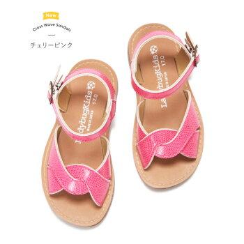 サンダルキッズ女の子子供大きなサイズも子供靴子供女の子キッズこども「★クロスウェーブサンダル」日本製で歩きやすく履きやすい靴ずれの心配がほとんどありません柔らかクッション!おしゃれホワイト高級上質161718192021222324