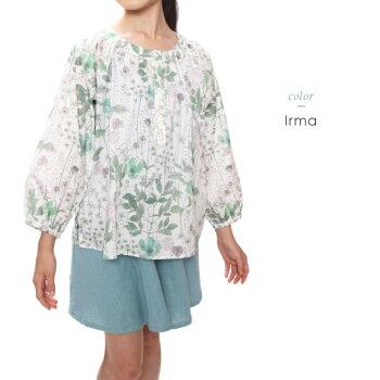長く着れる1,000日ブラウス【オリジナルリバティブラウス130cm140cm150cm160cm】女の子キッズ小学生大きなサイズ大人対応LIberty七分袖上質日本製花柄綿コットンお出かけおしゃれ大人対応ラグラン