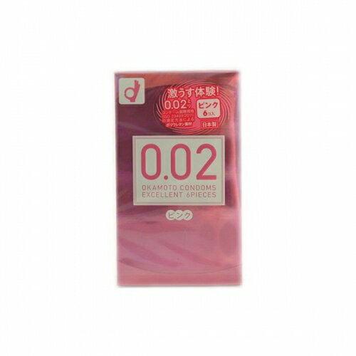 オカモト 002EX ピンク  レギュラーサイズ 6個入り