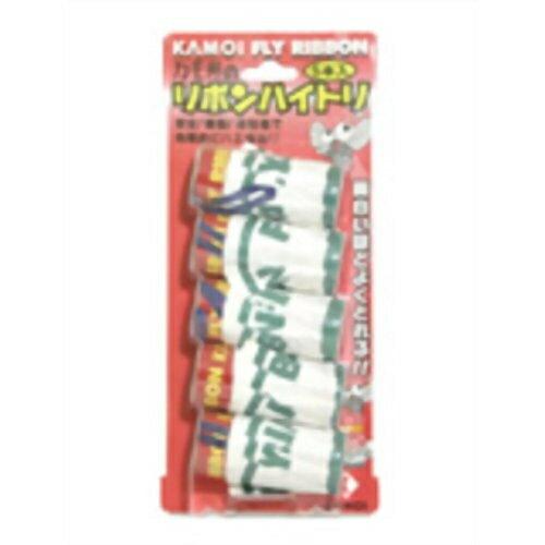 カモ井 リボンハイトリ(ハエとり) 5本入※取り寄せ商品(注文確定後6-20日頂きます) 返品不可