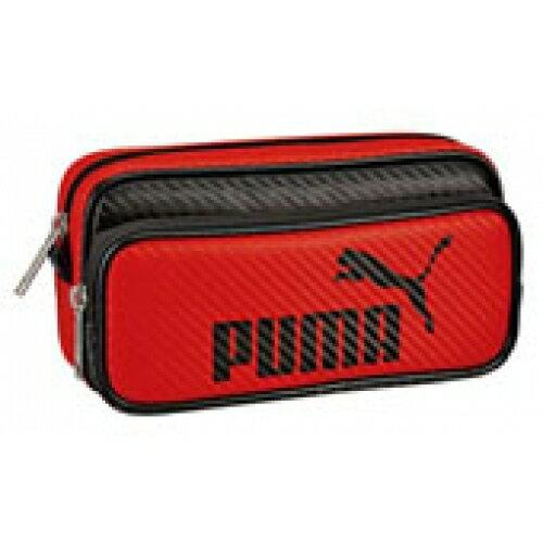 クツワ puma カラーカーボンWペンケース レッド※取り寄せ商品(注文確定後6-20日頂きます) 返品不可