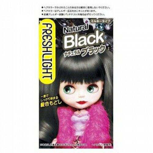 【医薬部外品】ヘンケルライオンコスメティックス フレッシュライト ミルキー髪色もどし ナチュラルブラック (60g+60ml)