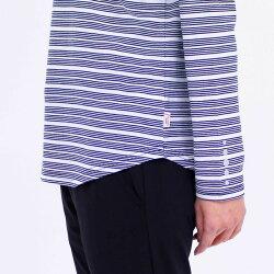 Tシャツ長袖VANSPORTS(バンスポーツ)衿フェイクミニフードシャツスポーツウエアレディース再帰反射吸汗速乾加工ロゴ刺繍ボーダー×無地MLLL3LライトパープルネイビーグレークロNEW春「201910w」