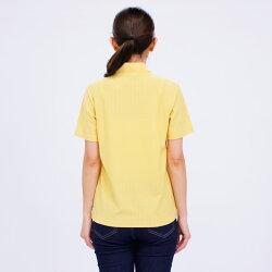 Tシャツ半袖VANSPORTS(バンスポーツ)地柄ジャガードハーフZipプルオーバーレディースロゴ刺繍MLLL3L4LオフクリームカーキグレーNEW春「201920w」