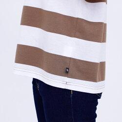 Tシャツ半袖PeterRabbit(ピーターラビット)ピーター&ベンジャミンフェイクレイヤードボーダーワイドTシャツレディース天竺ボーダーキャラクタープリントMLLL3LオレンジモカネイビーグレーNEW夏「201923w」