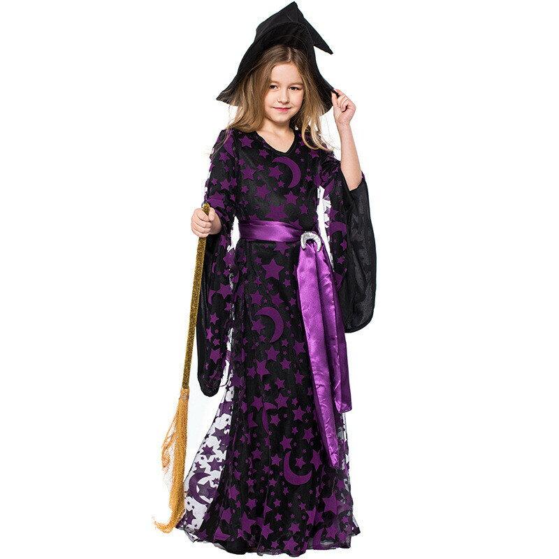 ハロウィン 衣装 子供 女の子 魔女 悪魔 仮装 子供ドレス ワンピース コスプレ 巫女 Halloween 3点セット