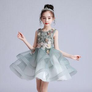 子供ドレス 女の子 ピアノの発表会 プリンセリー  結婚式 フラワーガール キッズ ワンピース膝丈 誕生日